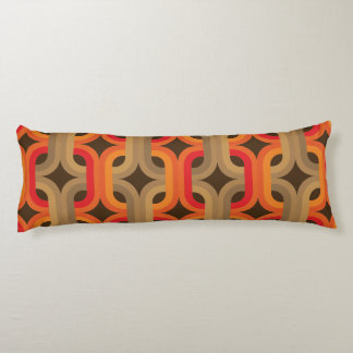 70s retro pattern body pillow