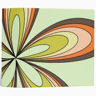 70's retro spring hippie flower power binder