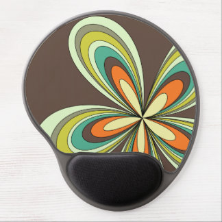 70's retro spring hippie flower power gel mouse pad