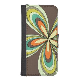 70's retro spring hippie flower power iPhone SE/5/5s wallet