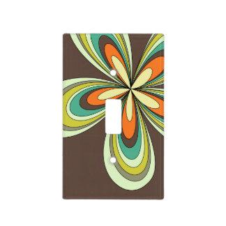 70's retro spring hippie flower power light switch cover