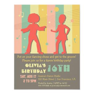 70s Retro Teen Disco Dance Birthday Party Card