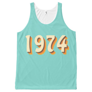 70's Retro Year Custom All-Over Print Tank Top