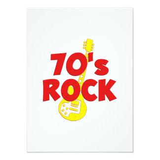 70s Rock 5.5x7.5 Paper Invitation Card