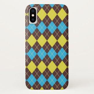 70s Scottish Tartan-Pattern iPhone X Case