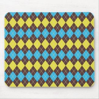 70s Scottish Tartan-Pattern Mouse Pad
