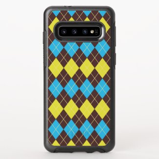 70s Scottish Tartan-Pattern OtterBox Symmetry Samsung Galaxy S10 Case