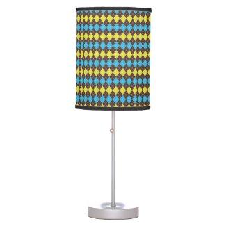 70s Scottish Tartan-Pattern Table Lamp