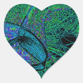 70's shroom love heart sticker