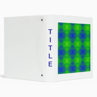 70's Style Abstract Art 3 Ring Binder