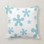 70's Style Flower Toss Pillow