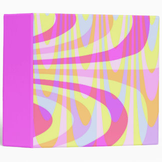 70's Swirls Binder
