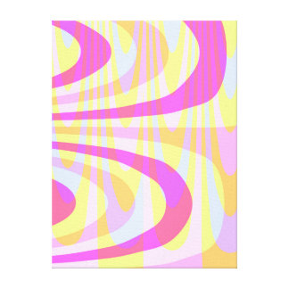 70's Swirls Canvas Print
