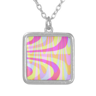 70's Swirls Silver Plated Necklace