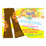70s Theme Groovy Bell Bottoms 50th Birthday Party Invite
