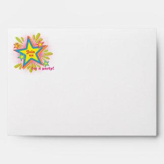 70s Theme Groovy Flower Birthday Party Envelopes