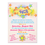 70s Theme Groovy Flower Power 50th Birthday Party 5x7 Paper Invitation Card