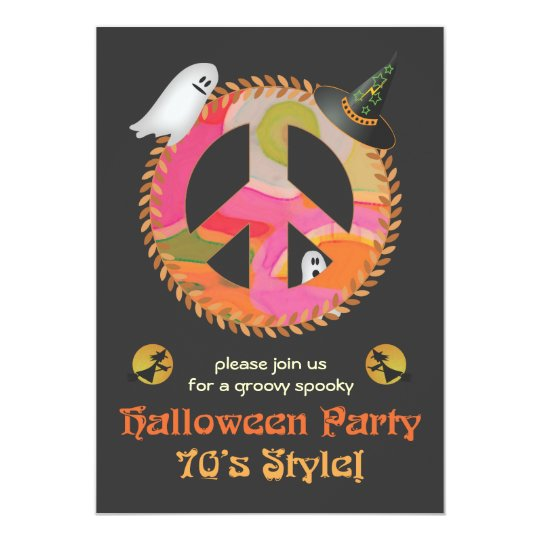 70s Theme Halloween Party Invitation Zazzlecom