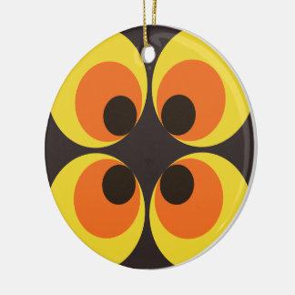 70s Wallpaper Ceramic Ornament