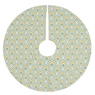 70's Wallpaper Pattern Brushed Polyester Tree Skirt