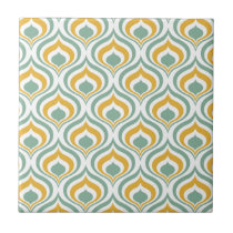 70's Wallpaper Pattern Ceramic Tile