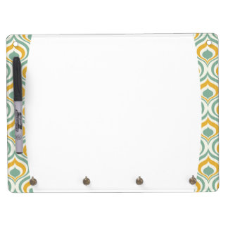 70's Wallpaper Pattern Dry Erase Board With Keychain Holder
