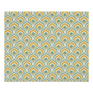 70's Wallpaper Pattern Poster