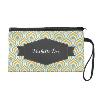 70's Wallpaper Pattern Wristlet