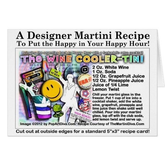 70's Wine Cooler Martini Recipe Greeting Card