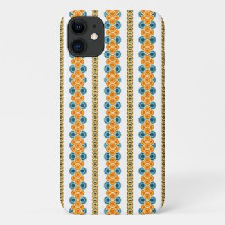 70s years circle rows iPhone 11 case