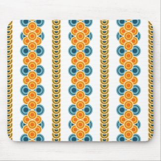 70s years circle rows mouse pad