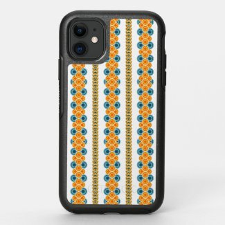 70s years circle rows OtterBox symmetry iPhone 11 case