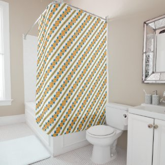70's years circle rows shower curtain