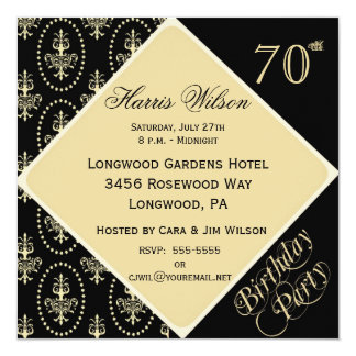 70th-79th Birthday Invitations