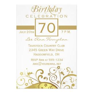 70th - 79th Birthday Party Invitations