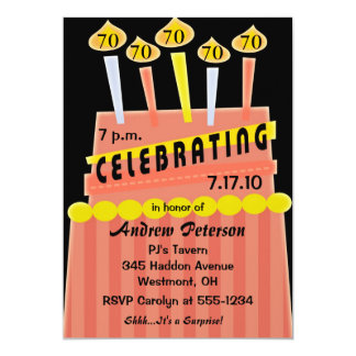 70th - 79th Birthday Party Personalized Invitation