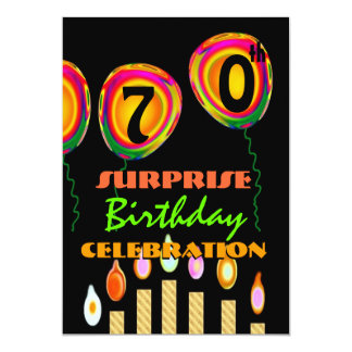 70th - 79th SURPRISE Birthday Party Invitation