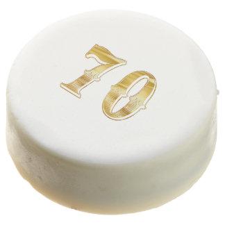 70th Anniversary 70 Birthday Wedding Gold White Chocolate Covered Oreo
