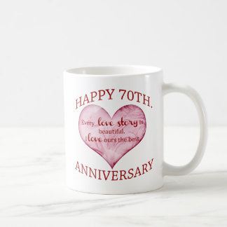 70th. Anniversary Coffee Mug