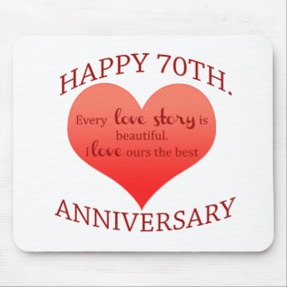 70th. Anniversary Mouse Pad