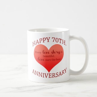70th. Anniversary Classic White Coffee Mug