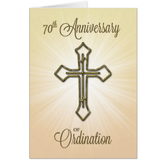 70th Anniversary of Ordination, Gold Cross Card