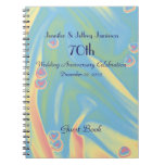 70th Anniversary Party Guest Book Small Hearts Notebook