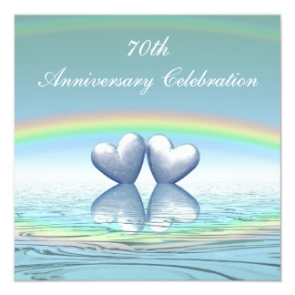 70th Anniversary Platinum Hearts Card