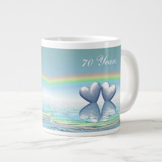 70th Anniversary Platinum Hearts Giant Coffee Mug