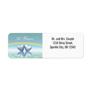 70th Anniversary Platinum Hearts Label