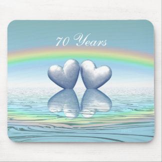 70th Anniversary Platinum Hearts Mouse Pad