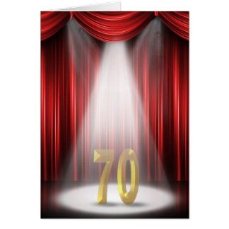 70th Anniversary Spotlight Congratulations Card