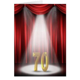 70th Anniversary Spotlight Congratulations Card