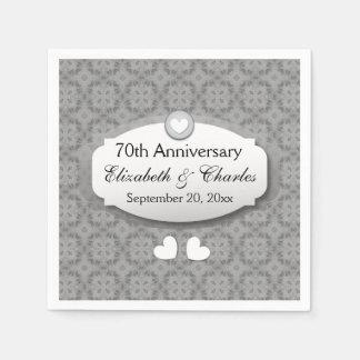70th Anniversary Wedding Anniversary Platinum Z03 Paper Napkin